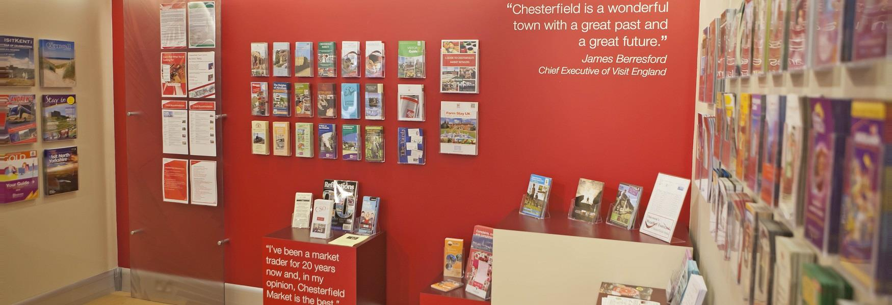 Inside Chesterfield Visitor Information Centre