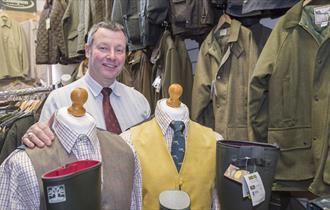 Selection of waistcoats, coats at jackets from Charles Hedley
