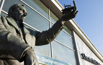 George Stephenson statue at Chesterfield Railway Station