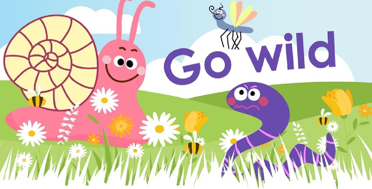 Go Wild picture of flowers, grass and creatures