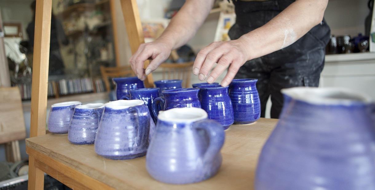 Glazed pottery at JMJ Pottery