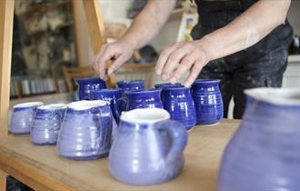 Glazed pottery at JMJ Pottery