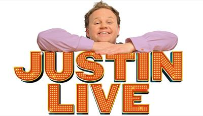 Justin Fletcher on Justin Live logo