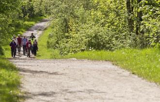 Walking on multi-user trails