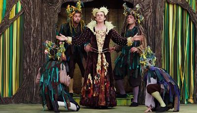 Shakespearian actors in period costume