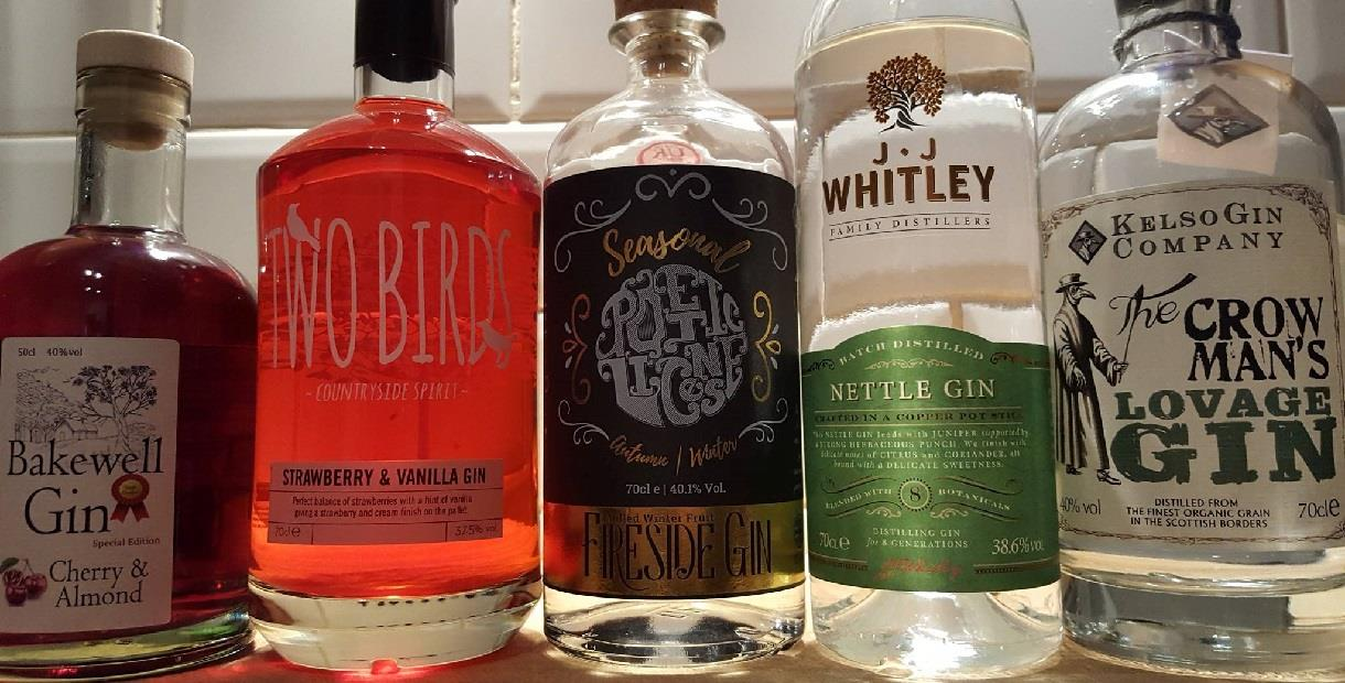 Market Pub gin selection