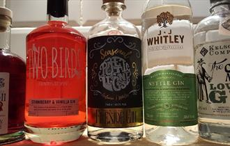 Market Pub gin selection