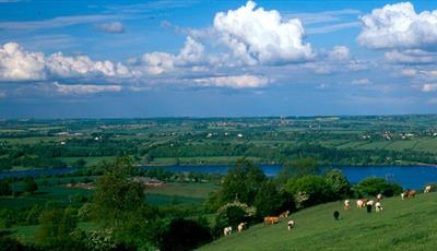 Ogston Reservoir in the distance