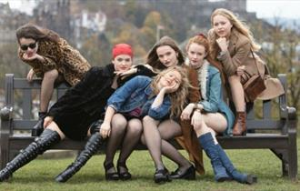 Six Scottish teenagers in Our Ladies