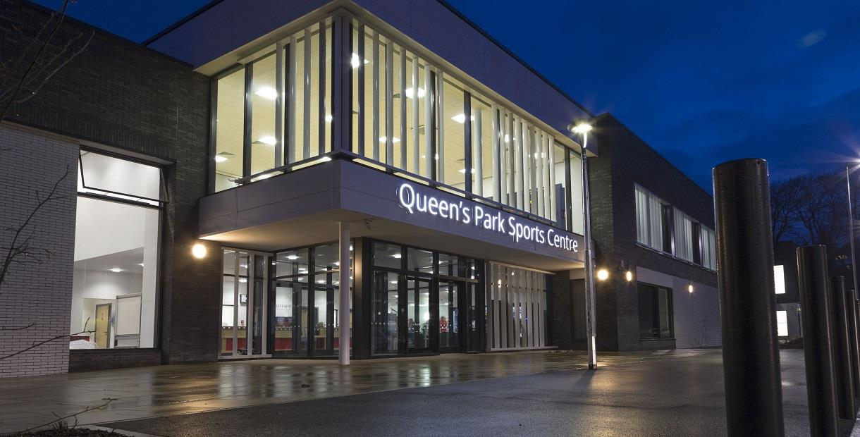 Exterior of Queen's Park Sports Centre