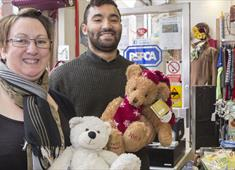 Staff at Chesterfield RSCPA Charity Shop