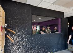 Axe throwing at the Snake Room