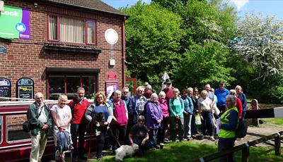 Walkers at Tapton Lock Visitor Centre