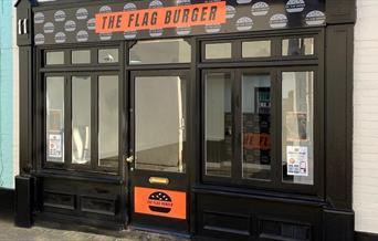 The Flag Burger Shop Front