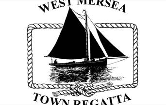 West Mersea Town Regatta Logo of a Sailing Barge