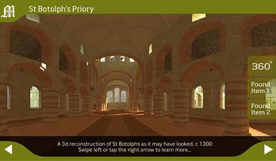 Screenshot of St Botolph's Priory from teh Ancient Colchester App