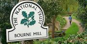The National Trust sign at Bourne Mill