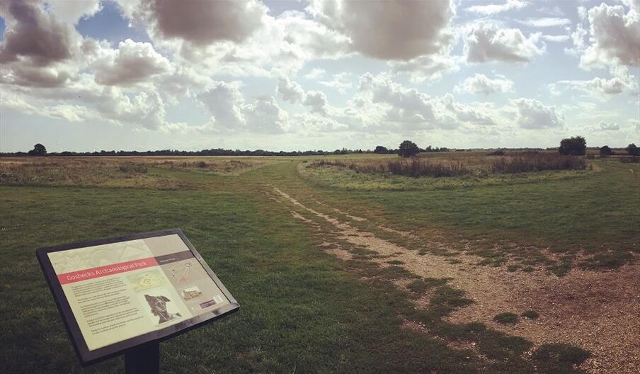 Gosbecks Archaeological Park (sign)