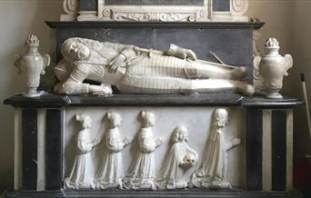 The tomb of Sir Henry Audley.