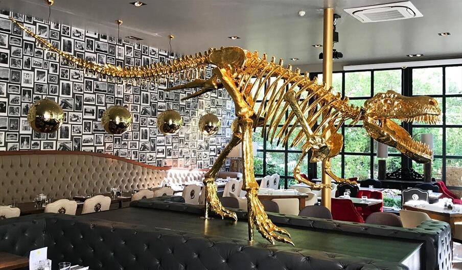 Mimosa Restaurant Golden Dinosaur