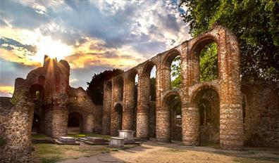 St Botolph's Priory at Sunset