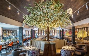 Pavilion Lounge with blossom tree