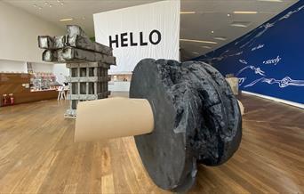 Phyllida Barlow sculptures in Firstsite's foyer
