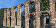 Ruined archways of St Botolph's Priory