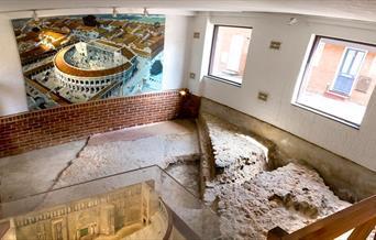 Inside Colchester's Roman Theatre