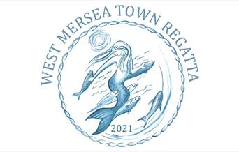 West Mersea Town Regatta 2021 Logo - Mermaid illustration