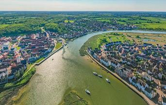 The River Colne From the air (c) Aerial Essex