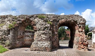 St Botolph's Gate in Colchester's Roman Wall