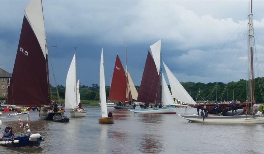 Sailing boats on the River Colne