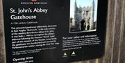 An English Heritage Interpretation Panel