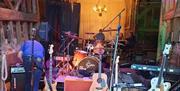 Stock Street Farm Barn Redwood on Stage