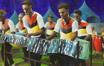Art Image: A Steel Drum Band.