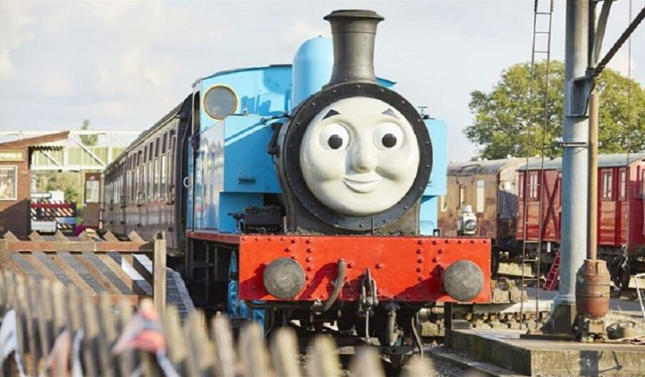 Life size Thomas  at the East Anglian Railway Museum