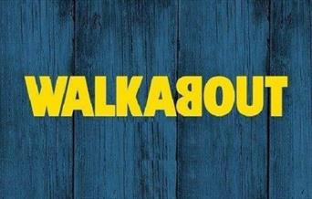 Yellow Walkabout Logo on Blue Background