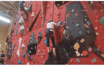 A climbing wall at Leisure World
