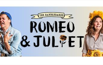 The Handlebards: Romeo and Juliet Logo & two crying actors