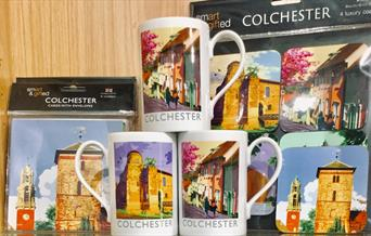Visit Colchester shop. Colchester Mugs, cards and placemats.