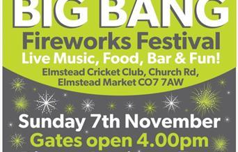 Elmstead's Big Bang Fireworks Festival