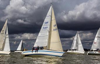 Cruiser Start at Mersea Week © Mersea Week