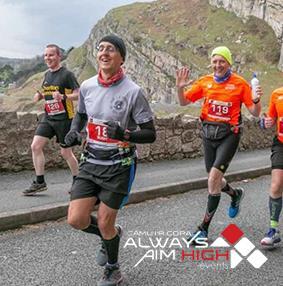 Image of runners on Marine Drive, Llandudno