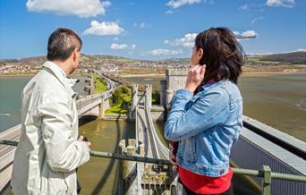 View of Conwy Suspension Bridge
