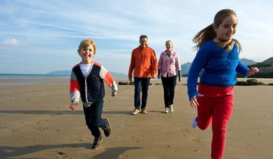 Family on Penmaenmawr Beach