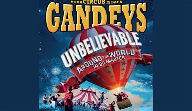 Logo Gandeys Circus Around the World