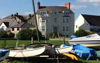 selection of small yachts on a grassed area