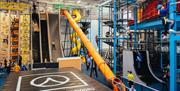 Interior of Adrenaline Indoors with slides and climbing frames