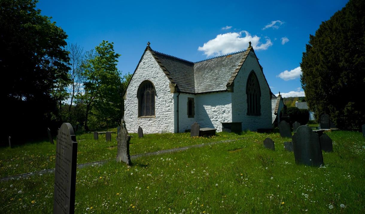 St Digain's Church and graveyard, Llangernyw